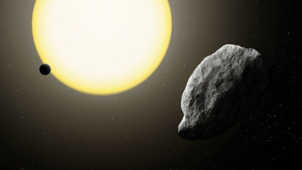 Concepción artística del asteroide 2021 PH27